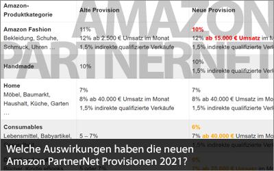 Welche Auswirkungen haben die neuen Amazon PartnerNet Provisionen 2021?
