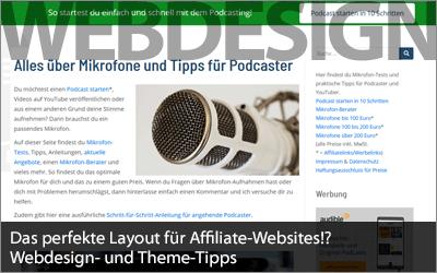 Das perfekte Layout für Affiliate-Websites!? Webdesign- und Theme-Tipps