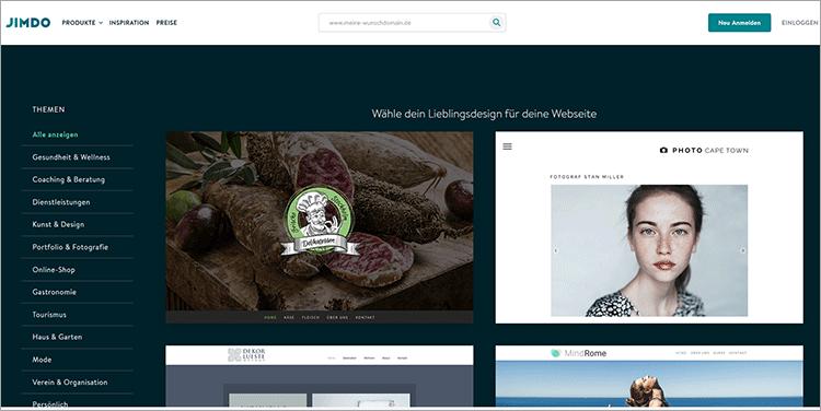 Affiliate Website mit Homepage Baukasten erstellen - 5 Anbieter im Vergleich